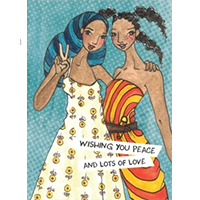 image of Peace and Love greeting card
