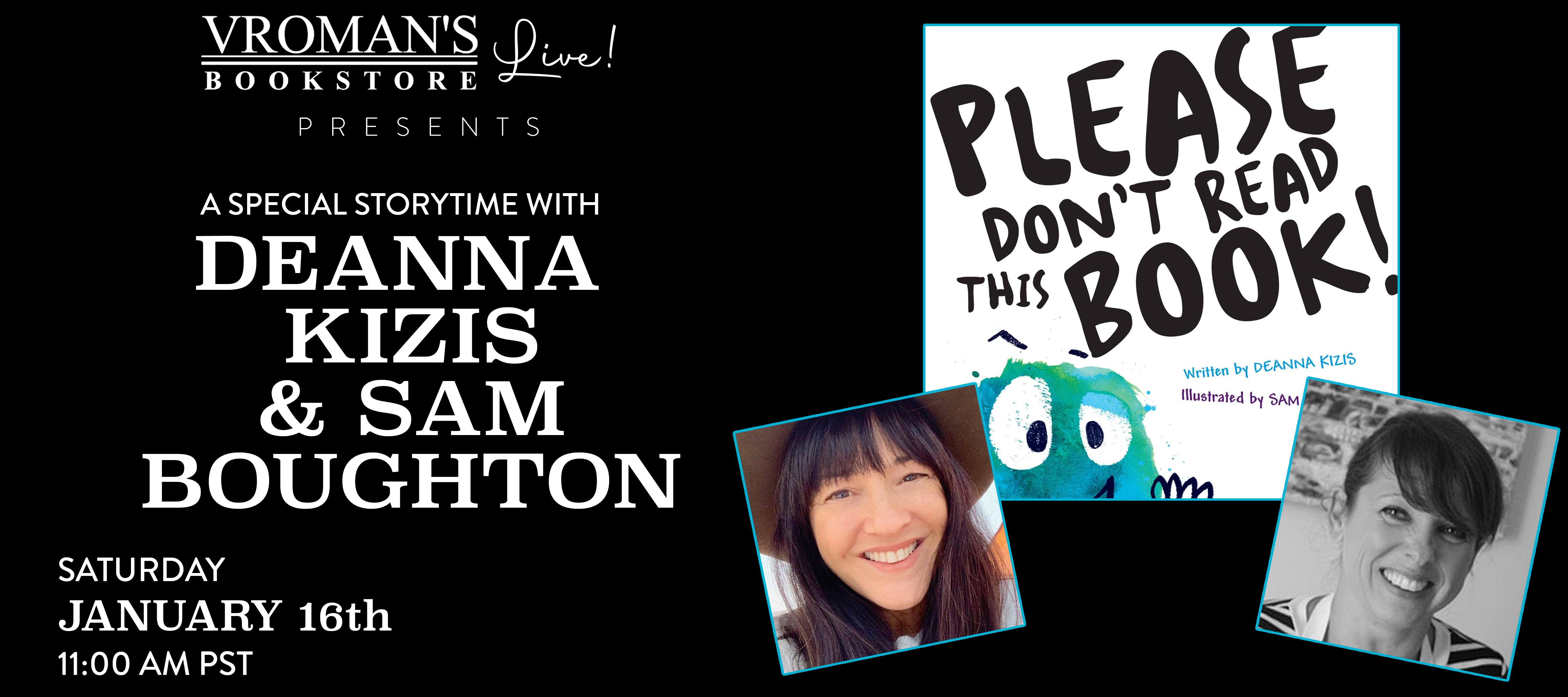 event banner for Deanna Kizis & Sam Boughton