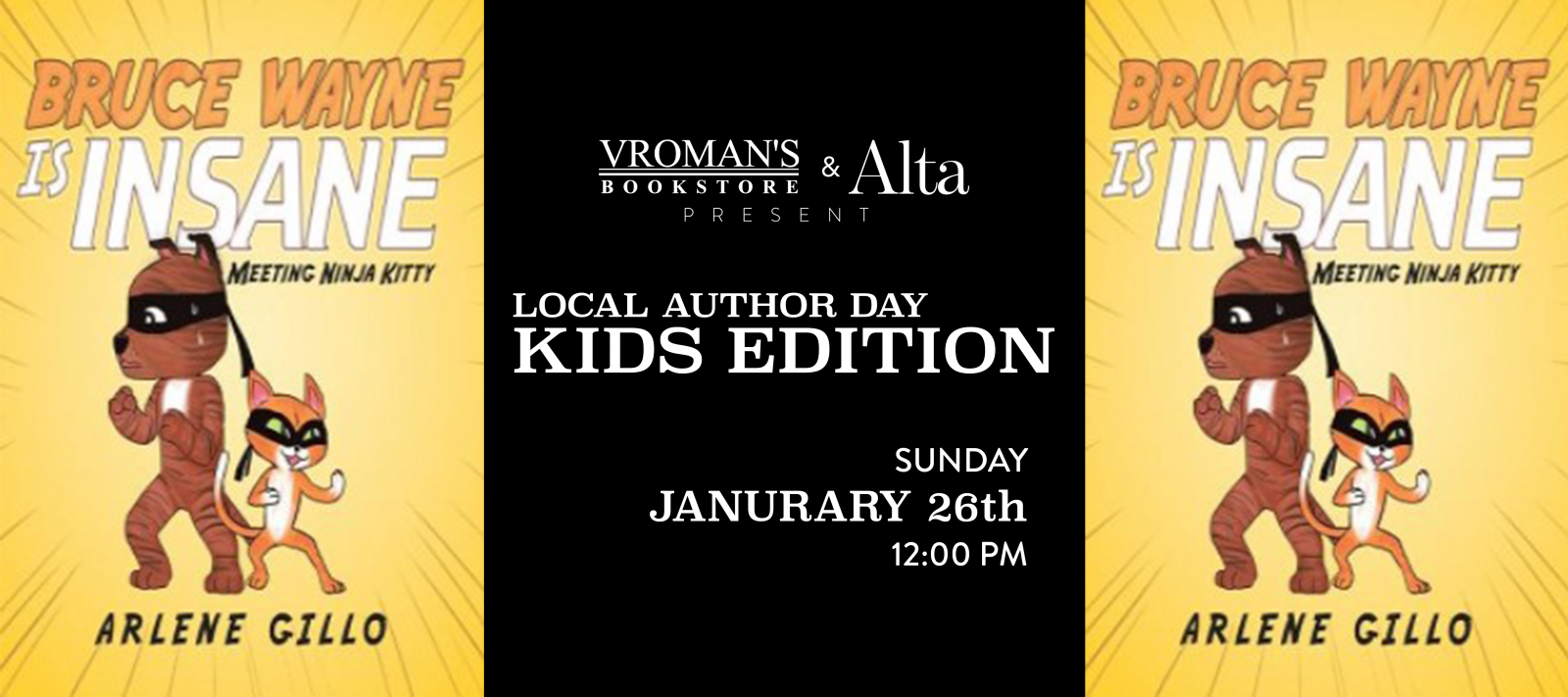 Vroman's Local Author Day – Kids Edition featuring Arlene Gillo on Sunday January 26th at 12pm