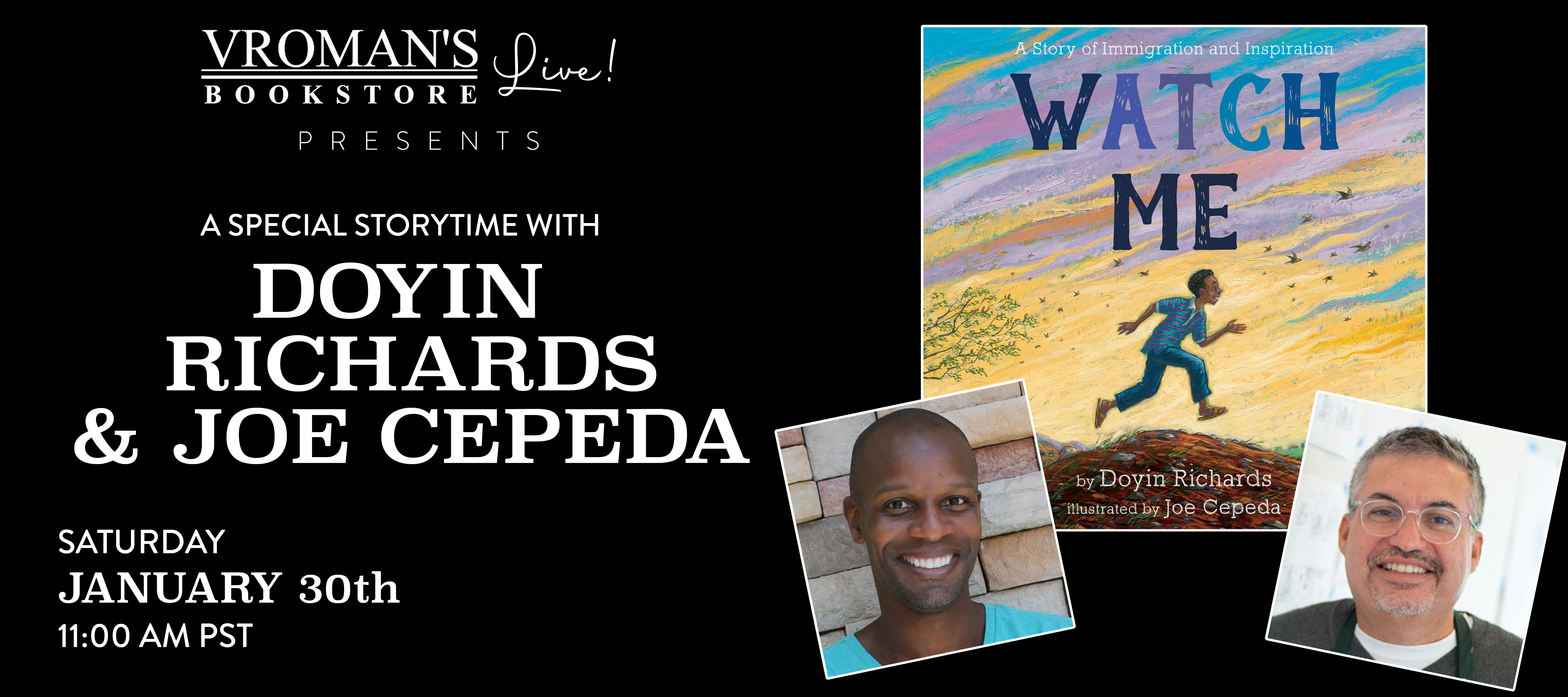 event banner for Richards and Cepeda