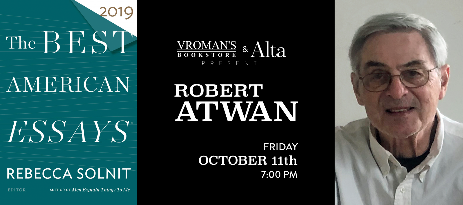 Robert Atwan book signing Friday October 11 at 7pm