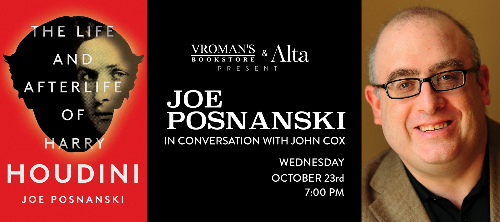book signing with Joe Posnanski Wednesday October 23 at 7pm