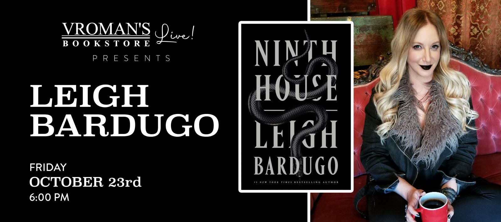 Vroman's Live presents Leigh Bardugo on Friday October 23 at 6pm