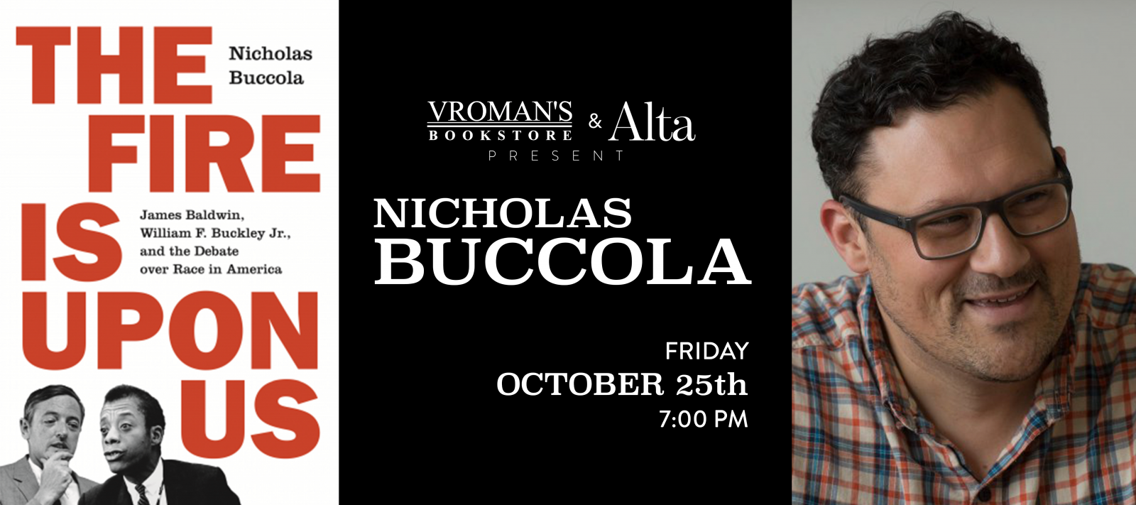 Nicholas Buccola book signing Friday October 25 at 7pm