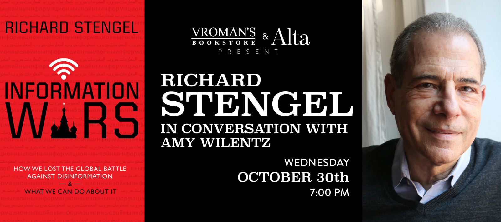 book signing with Richard Stengel and Amy Wilentz on Wednesday October 30th at 7pm