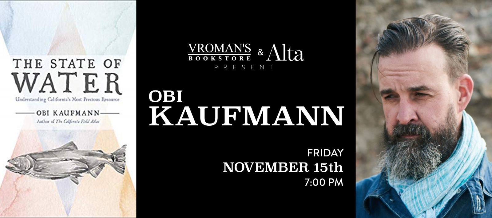 book signing with Obi Kaufmann Friday November 15 at 7pm