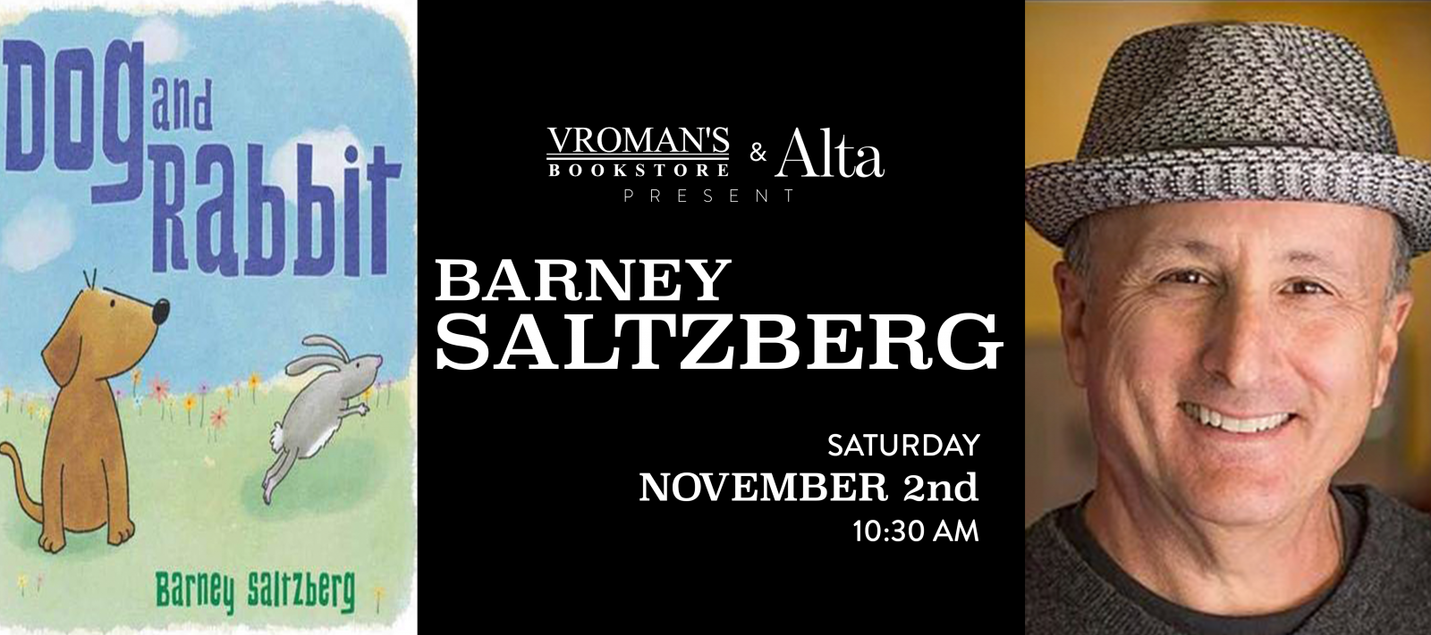 book signing with Barney Saltzberg Saturday Nov 2 at 10:30am