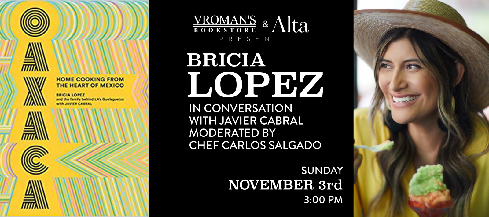 books signing with Bricia Lopez Sunday November 3 at 3pm