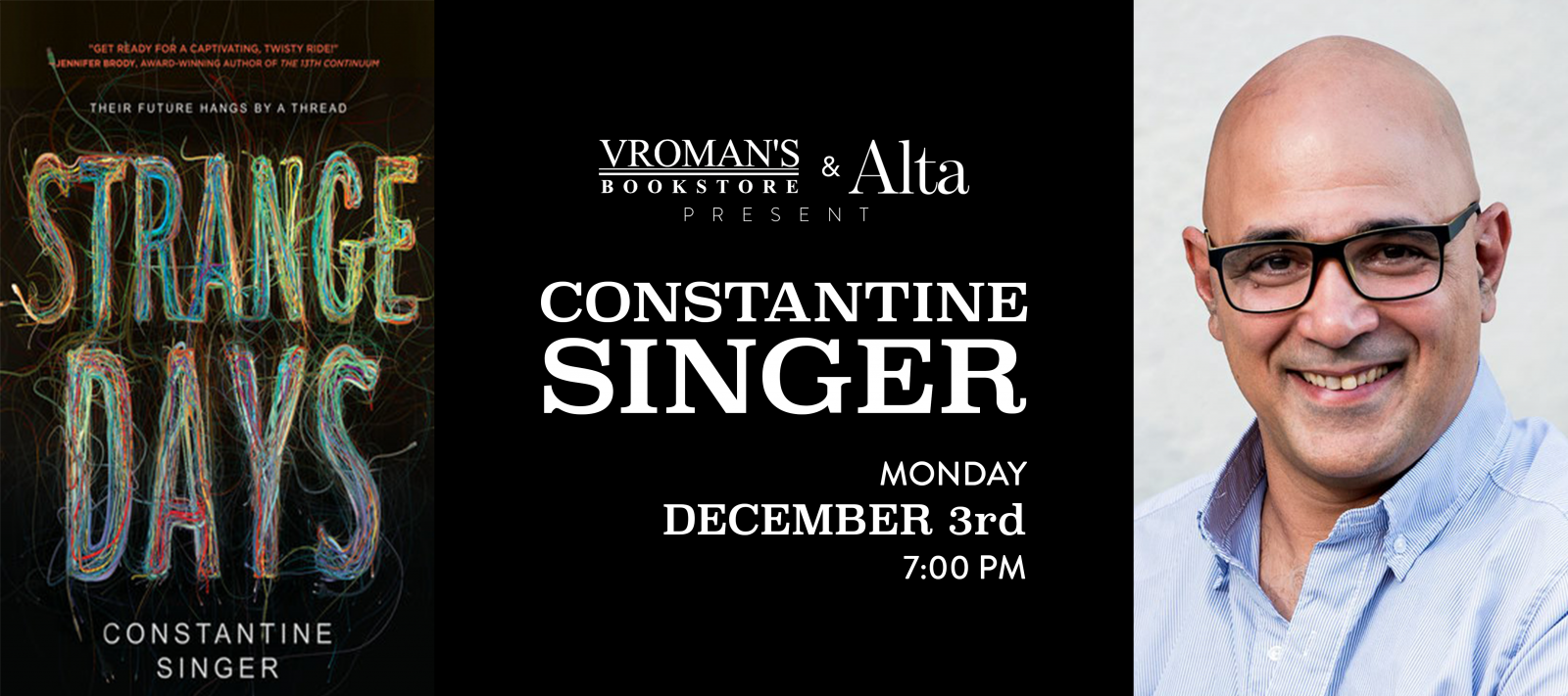 Constantine Singer Monday December 3rd at 7pm