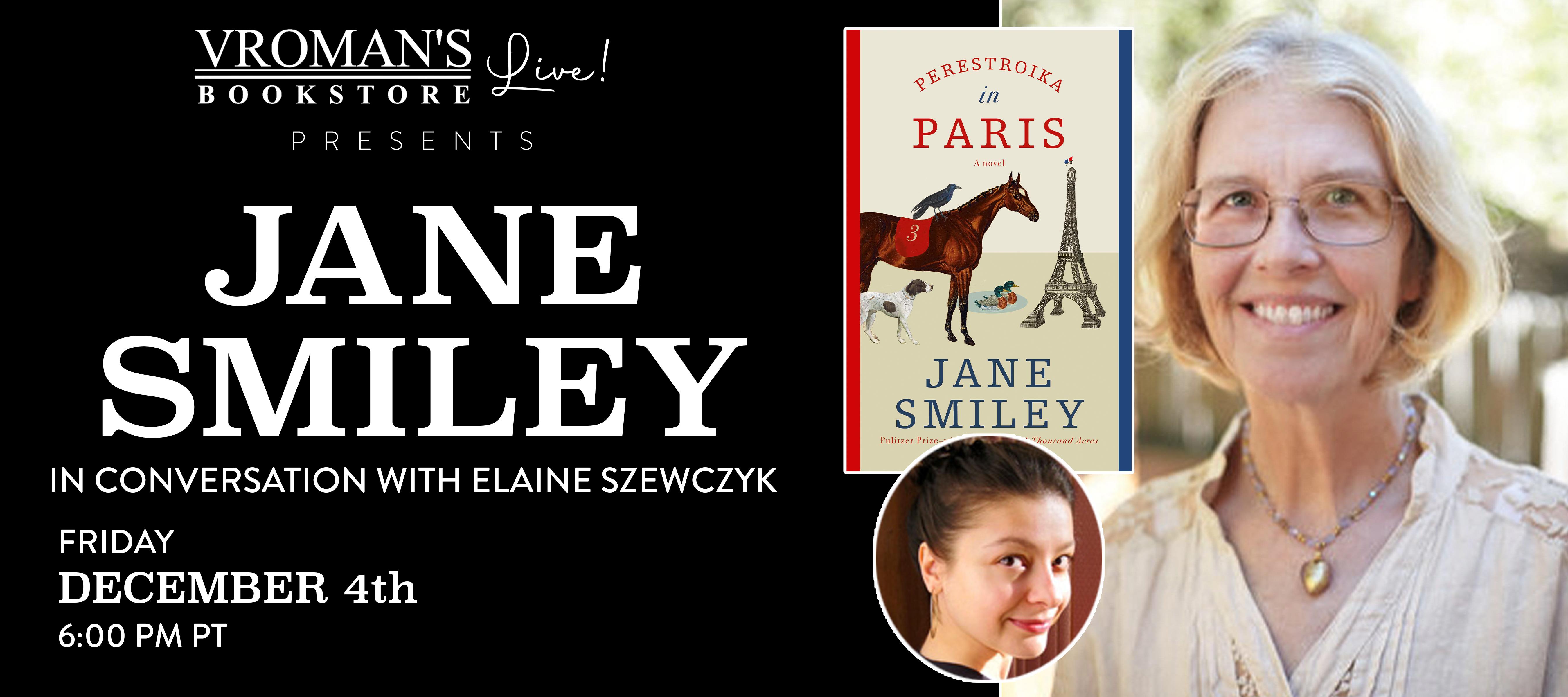 Jane Smiley event banner