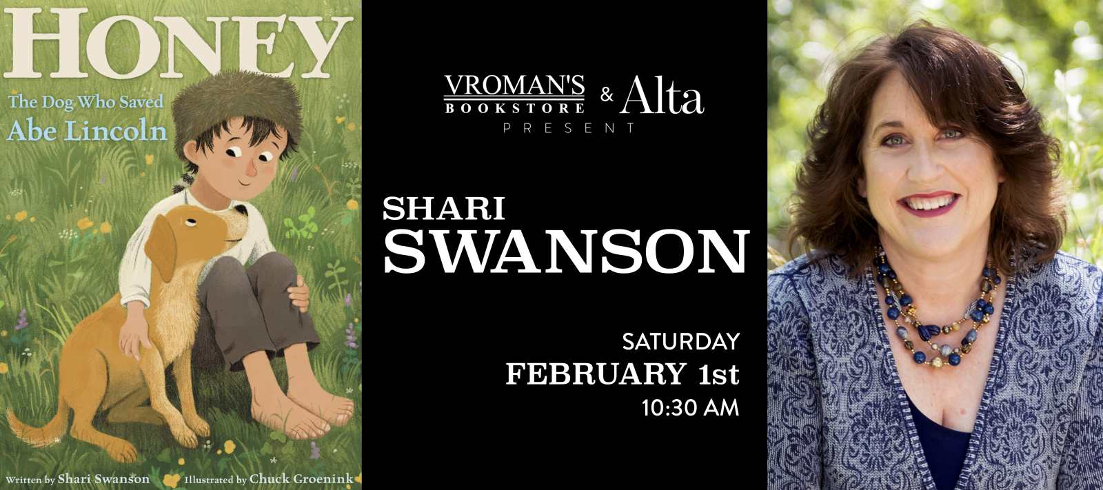 Book Signing with Shari Swanson on Saturday, February 1 at 10:30am