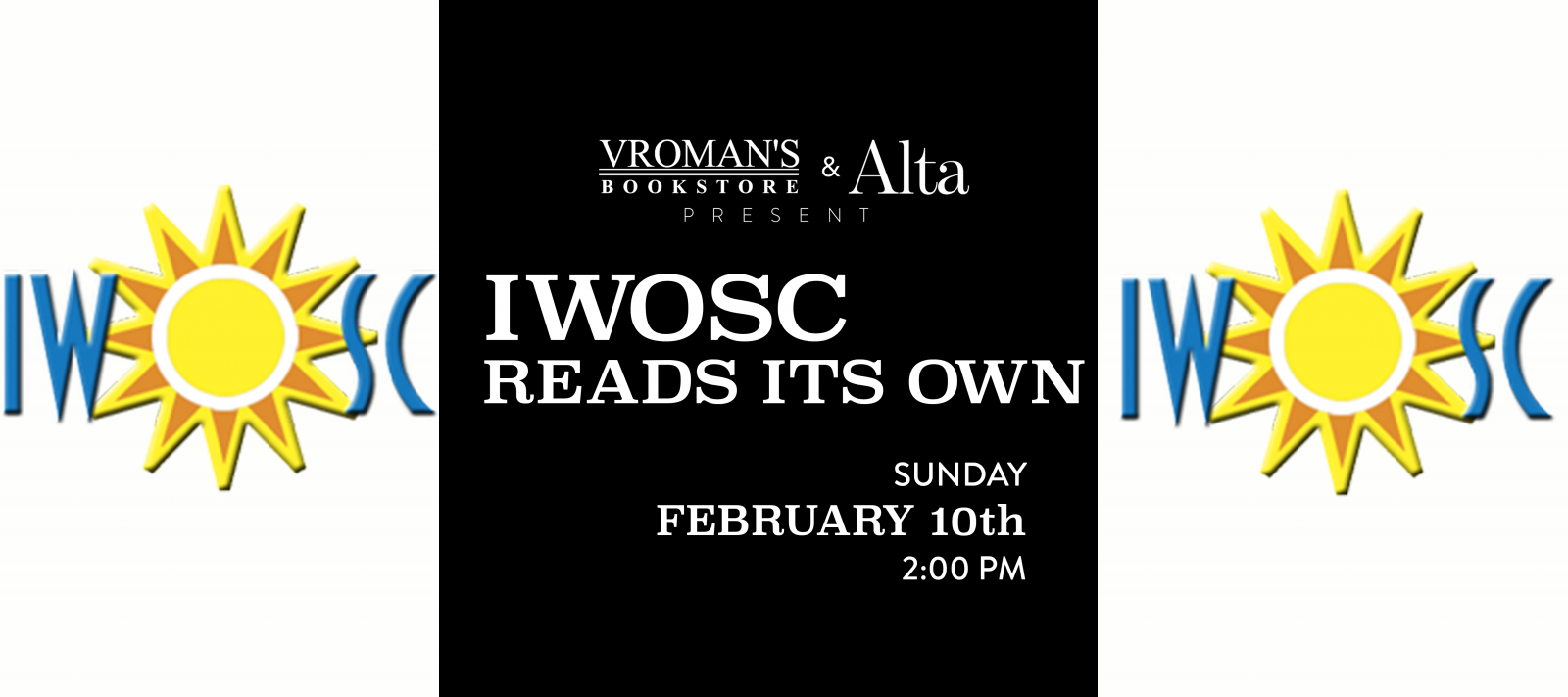 IWOSC Reads Its Own Sunday February 10th at 2pm