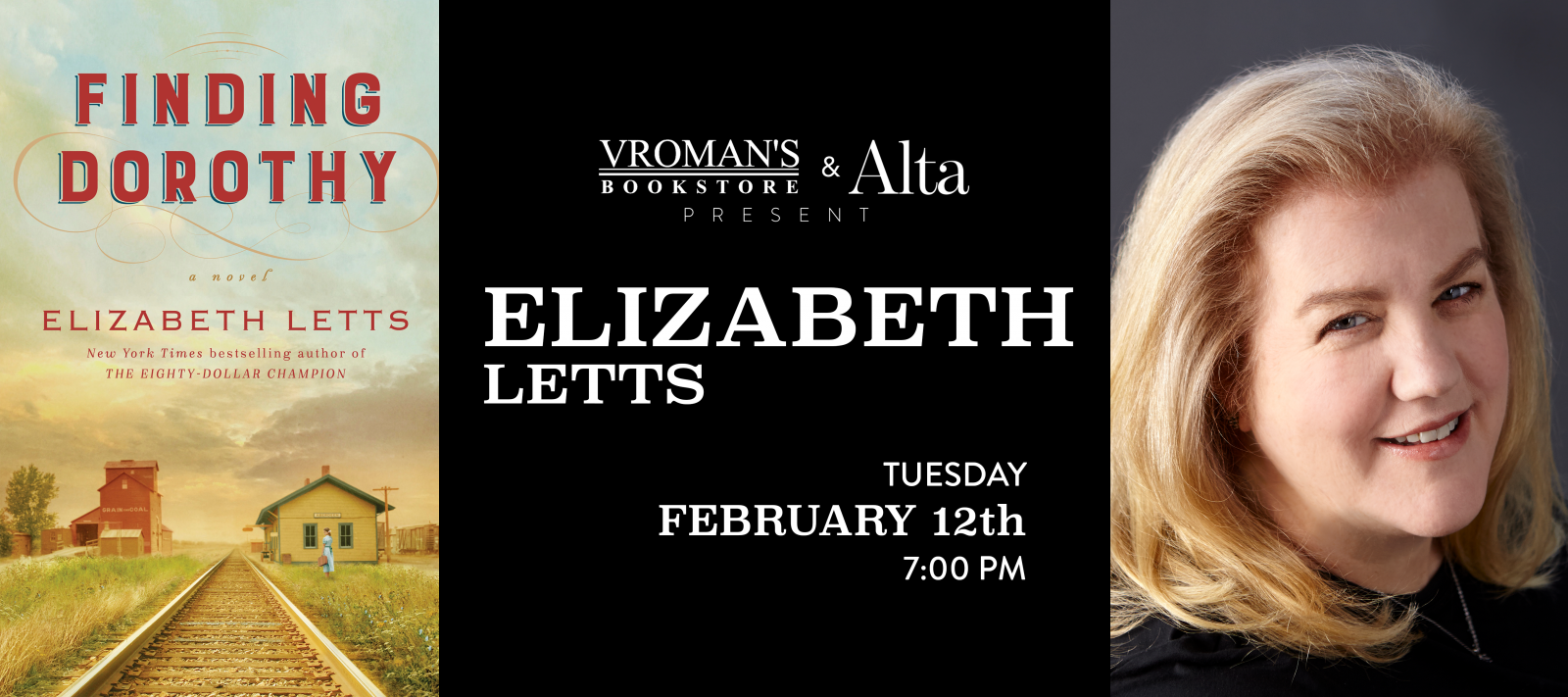 Elizabeth Letts Tuesday February 12th at 7pm
