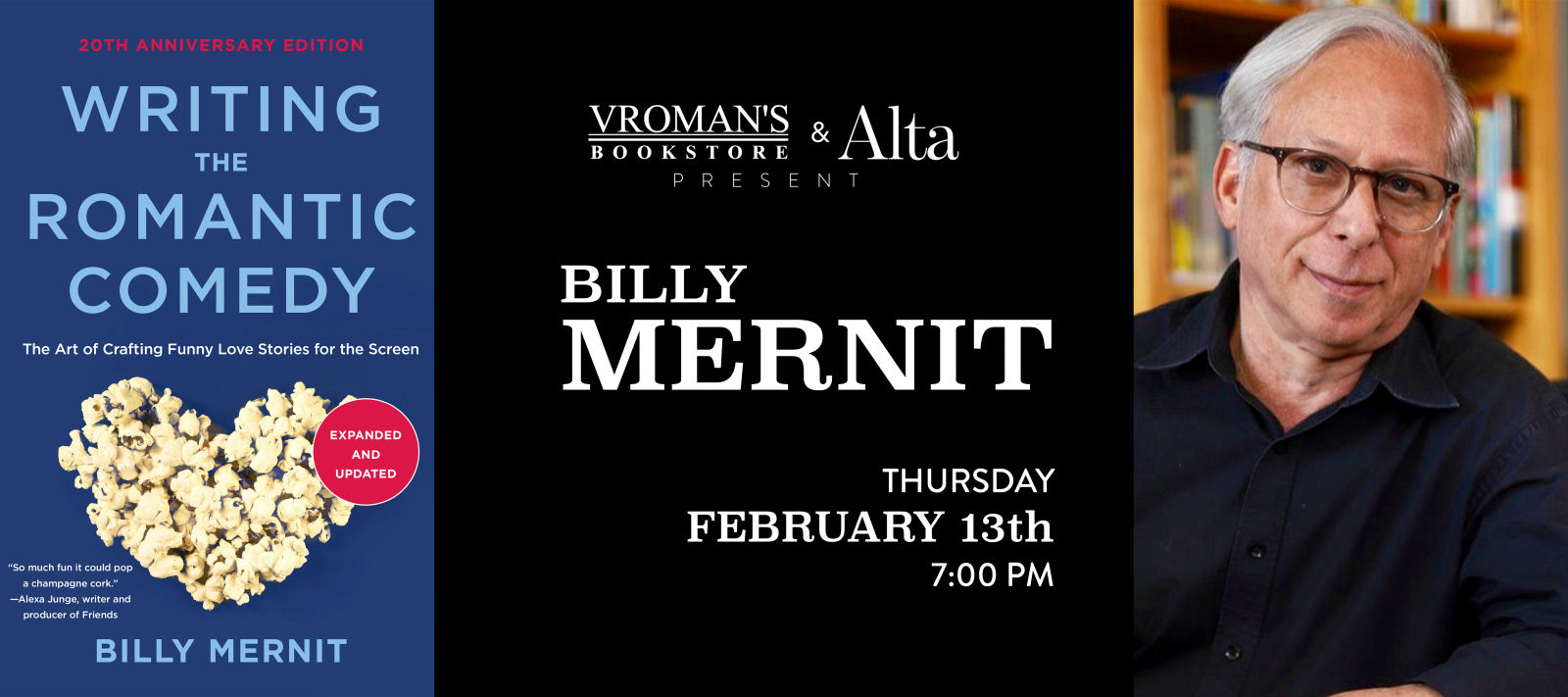 Billy Mernit book signing on Thursday February 13, at 7pm