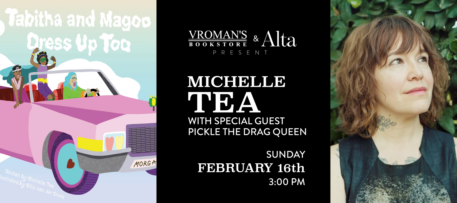 Michelle Tea book signing on Sunday, February 16, at 3pm