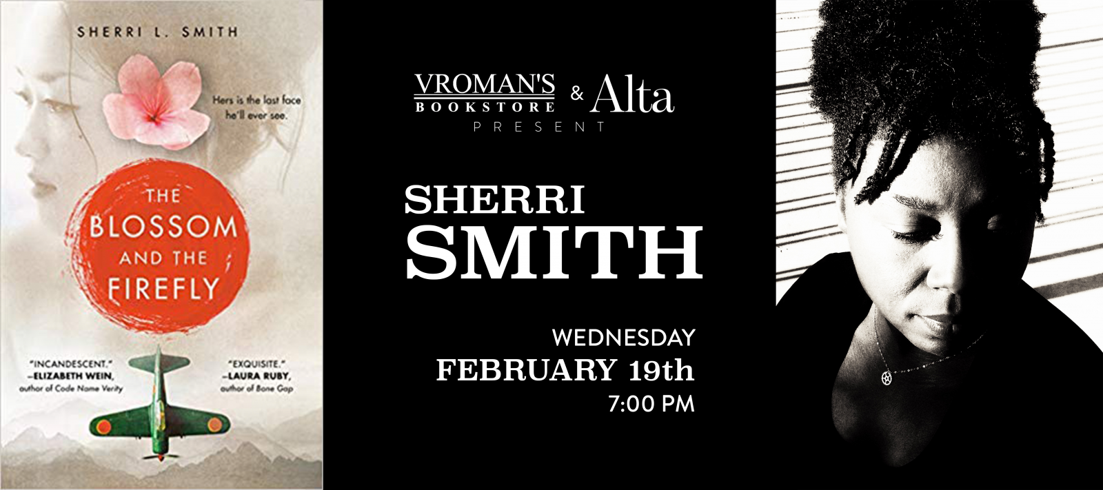 Sherri Smith book signing on Wednesday, February 19, at 7pm