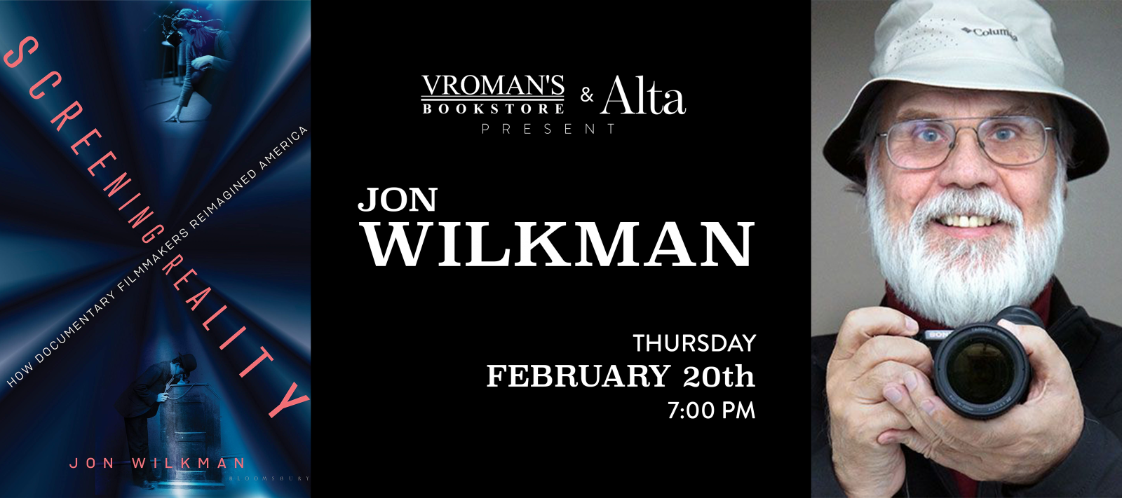 Jon Wilkman book signing Thursday, February 20, at 7pm