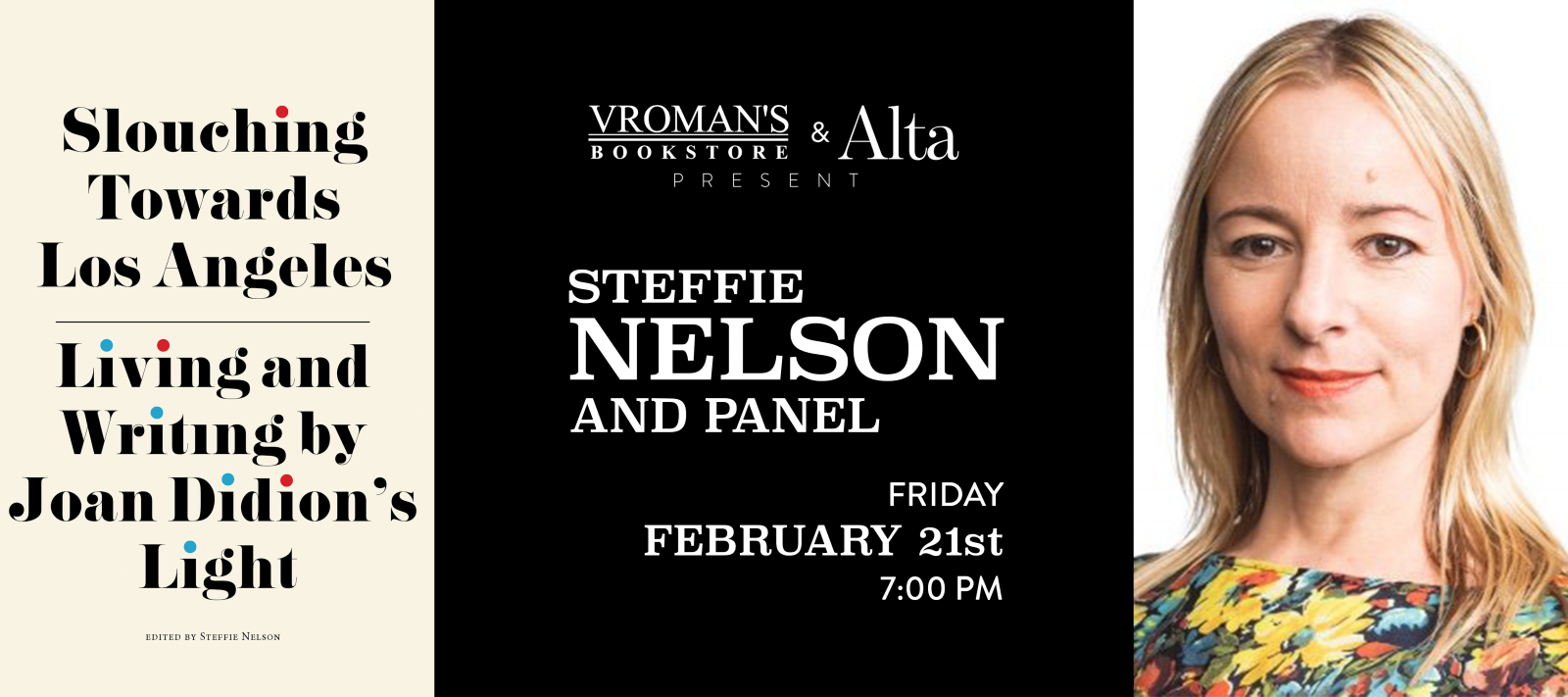 Steffie Nelson book signing on Friday, February 21, at 7pm