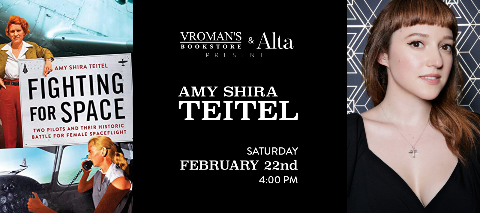Amy Shira Teitel book signing on Saturday, February 22, at 4pm