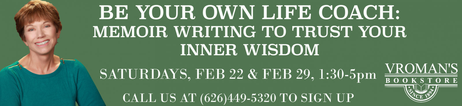 Be Your Own Life Coach: Memoir Writing to Trust Your Inner Wisdom, workshop with Ann Hamer