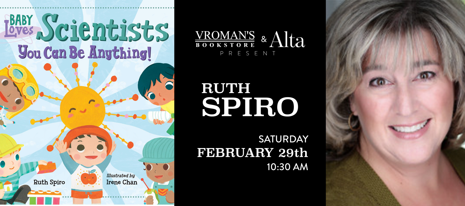 Ruth Spiro book signing Saturday, February 29, at 10:30am