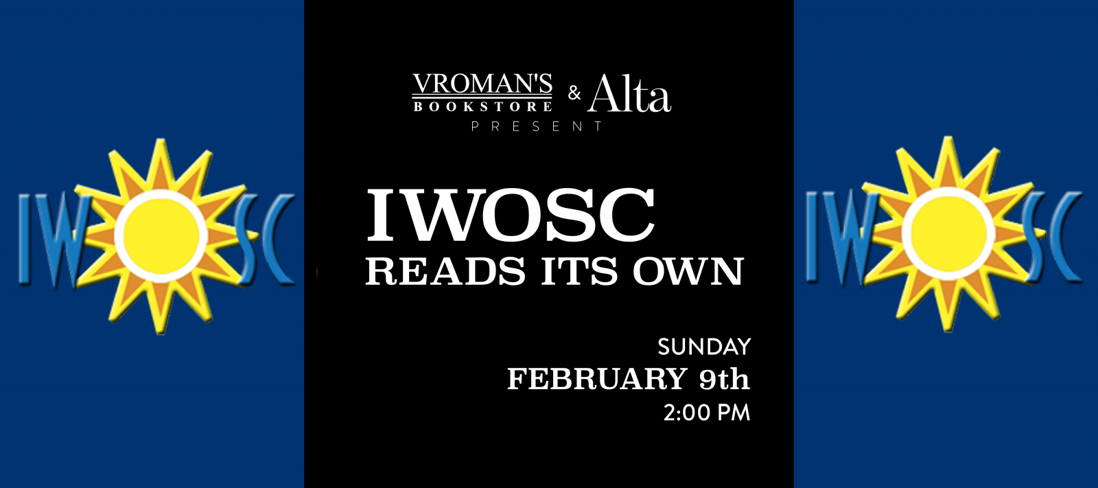 IWOSC Reads Its Own on Sunday, February 9, at 3pm