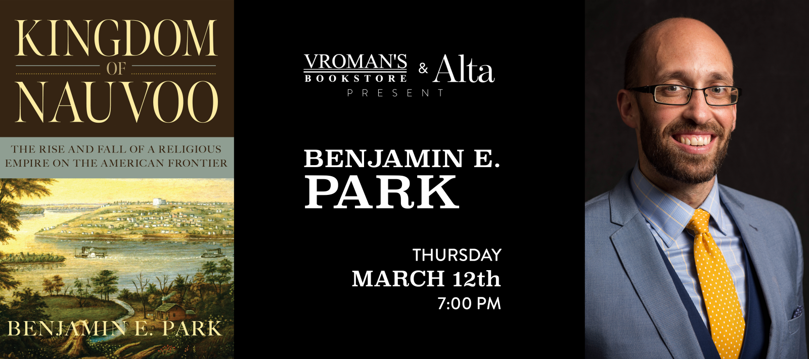 Benjamin E. Park book signing on Thursday, March 12, at 7pm