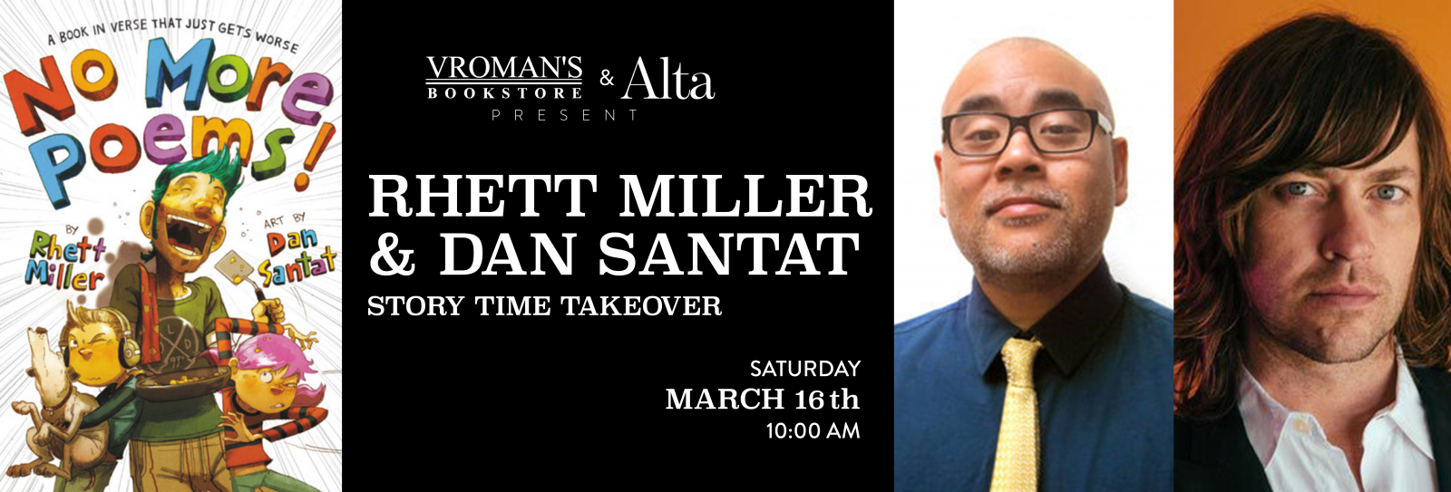 Rhett Miller and Dan Santat March 16th at 10am