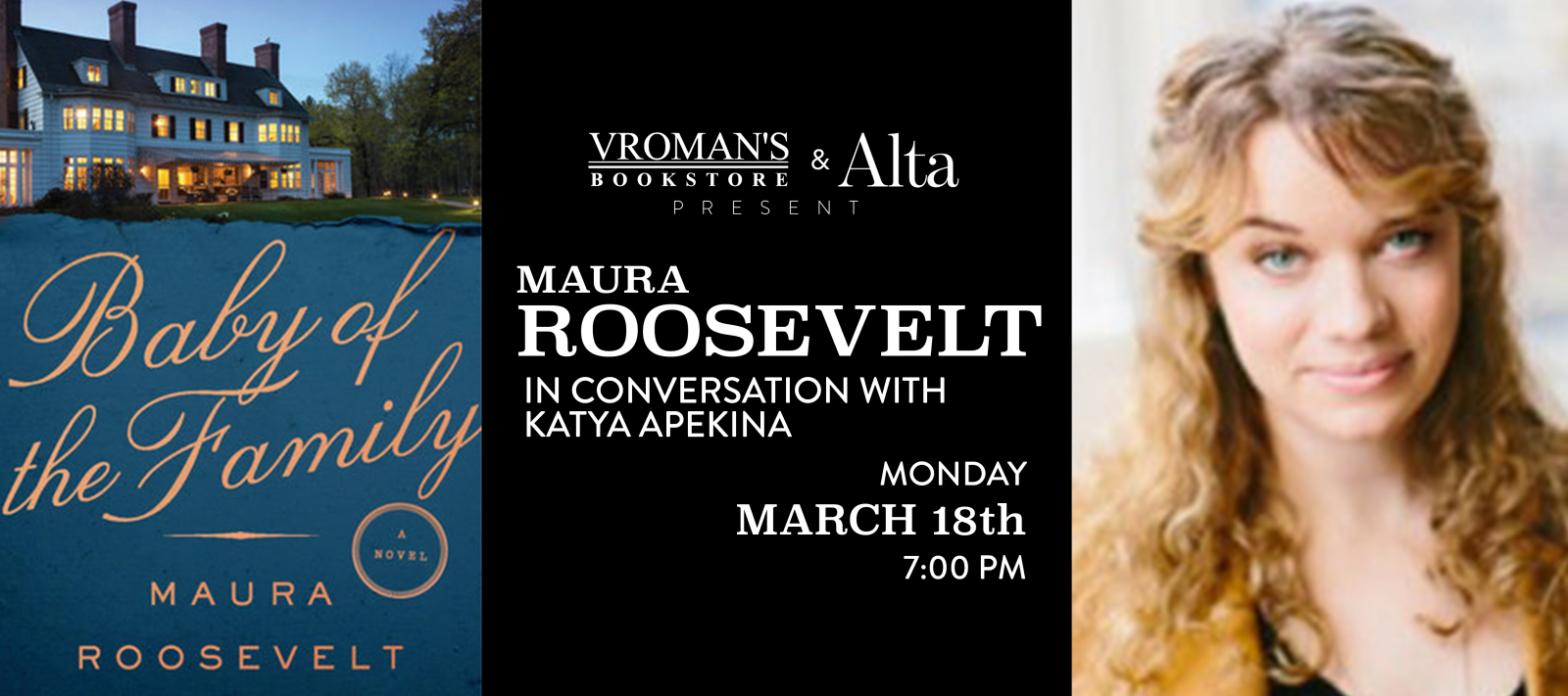 Maura Roosevelt, in conversation with Katya Apekina, Monday March 18th at 7pm
