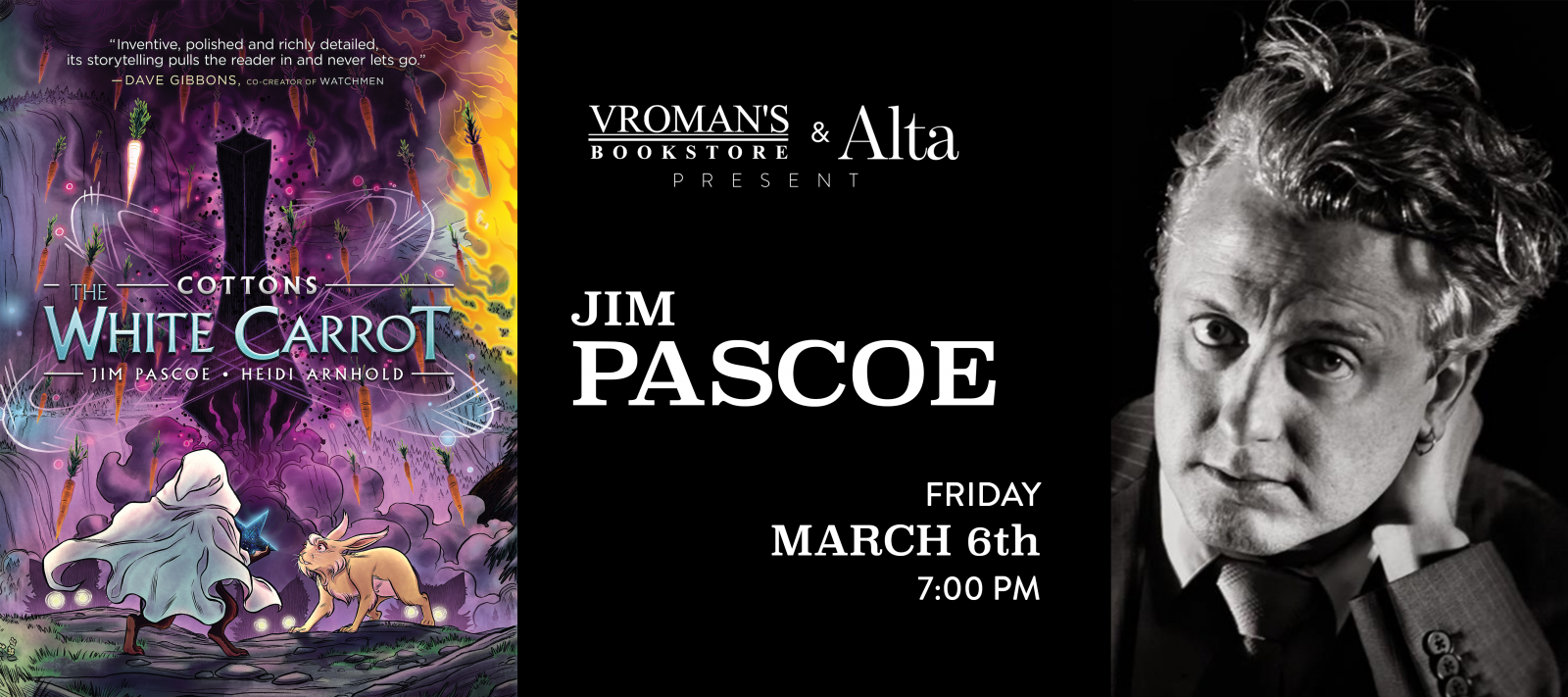 Jim Pascoe book signing Friday, March 6, at 7pm
