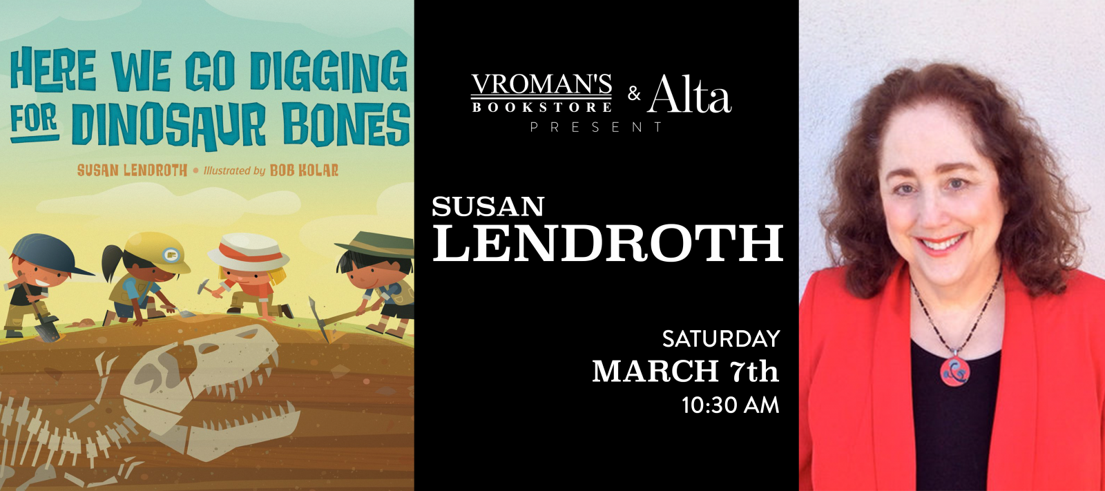 Susan Lendroth book signing on Saturday, March 7, at 10:30am