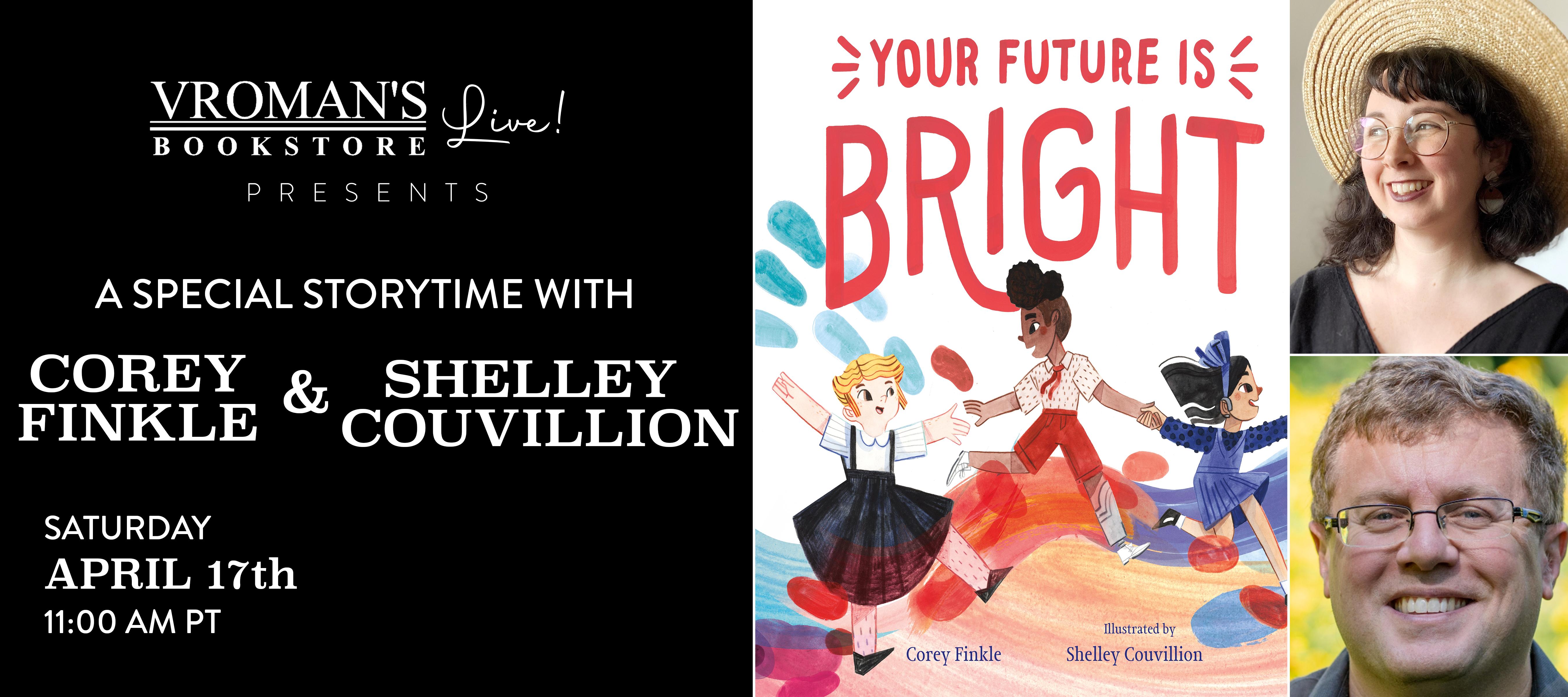 Corey Finkle & Shelley Couvillion on Saturday April 17 at 11am