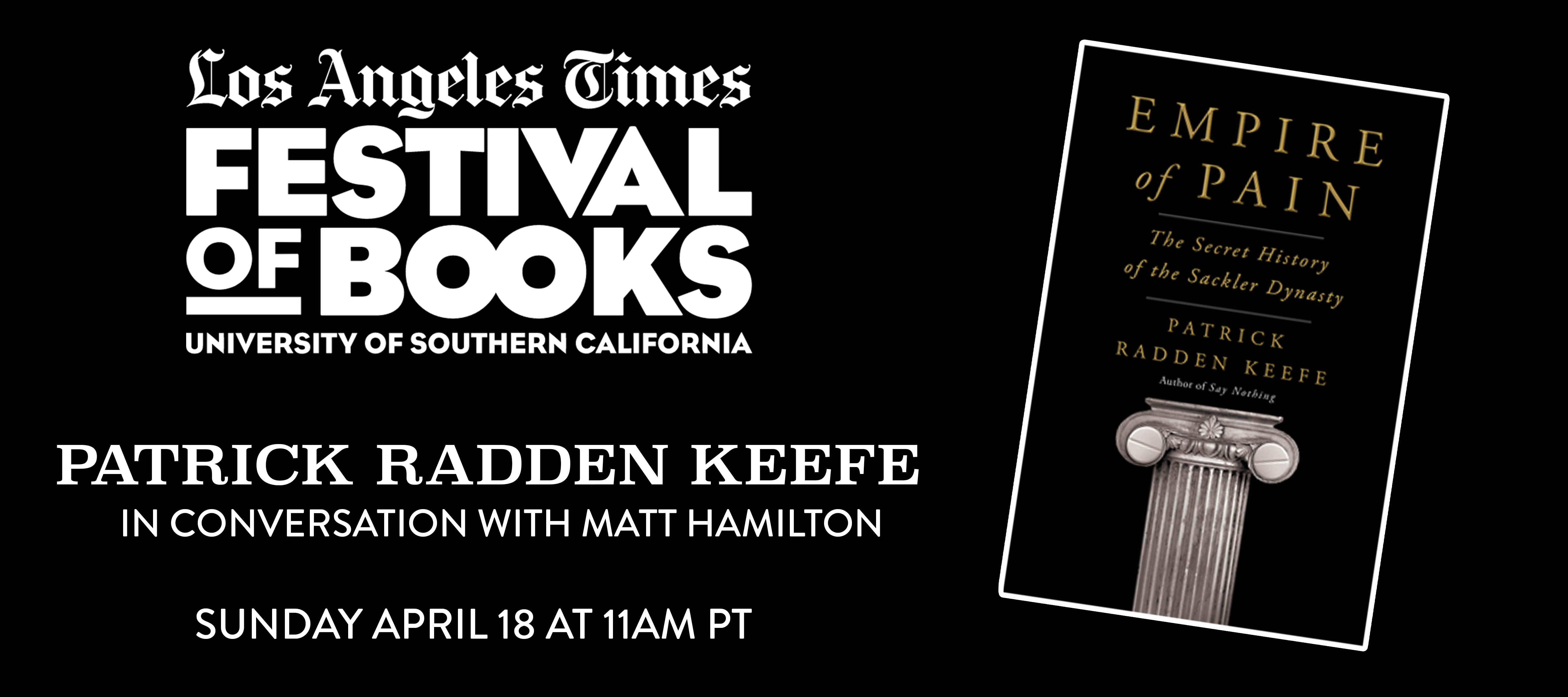 Monday, April 19, 6:00pm L.A. Times Festival of Books presents This Moment in Fiction
