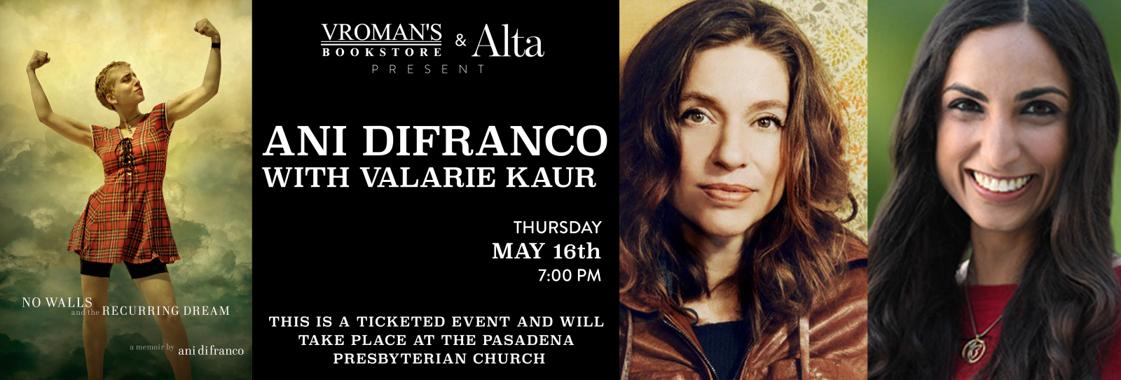 Ani DiFranco book signing Thursday May 16th at 7pm