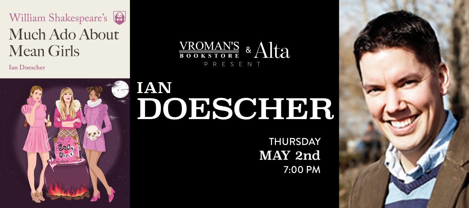 Ian Doescher book signing Thursday May 2nd at 7pm