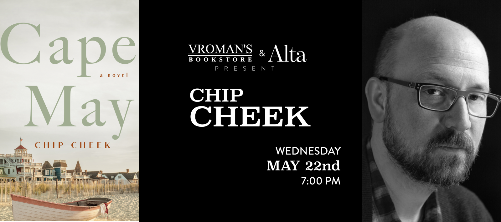 Chip Cheek book signing Wednesday May 22nd at 7pm