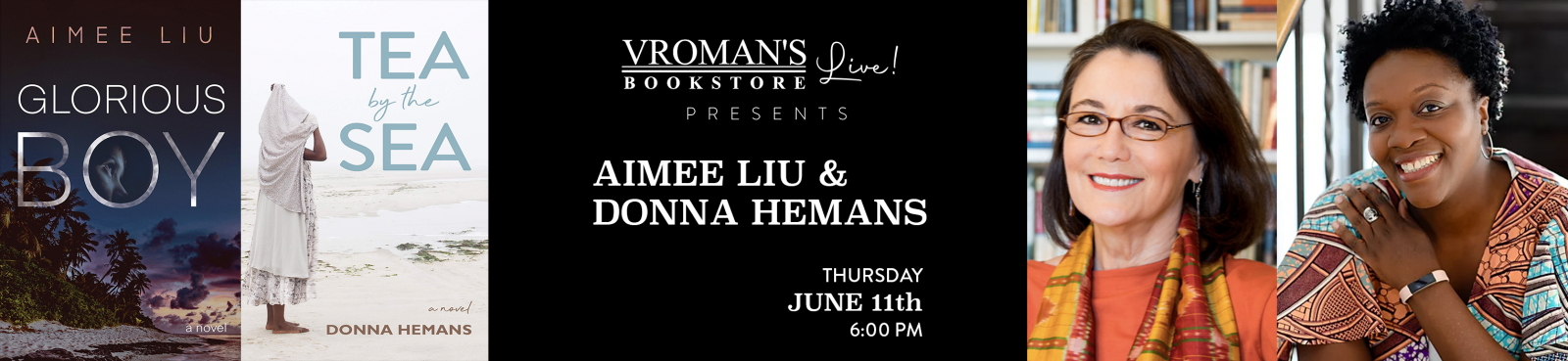 Vroman's Live Presents Aimee Liu and Donna Hemans on Crowdcast, Thursday June 11 at 6pm