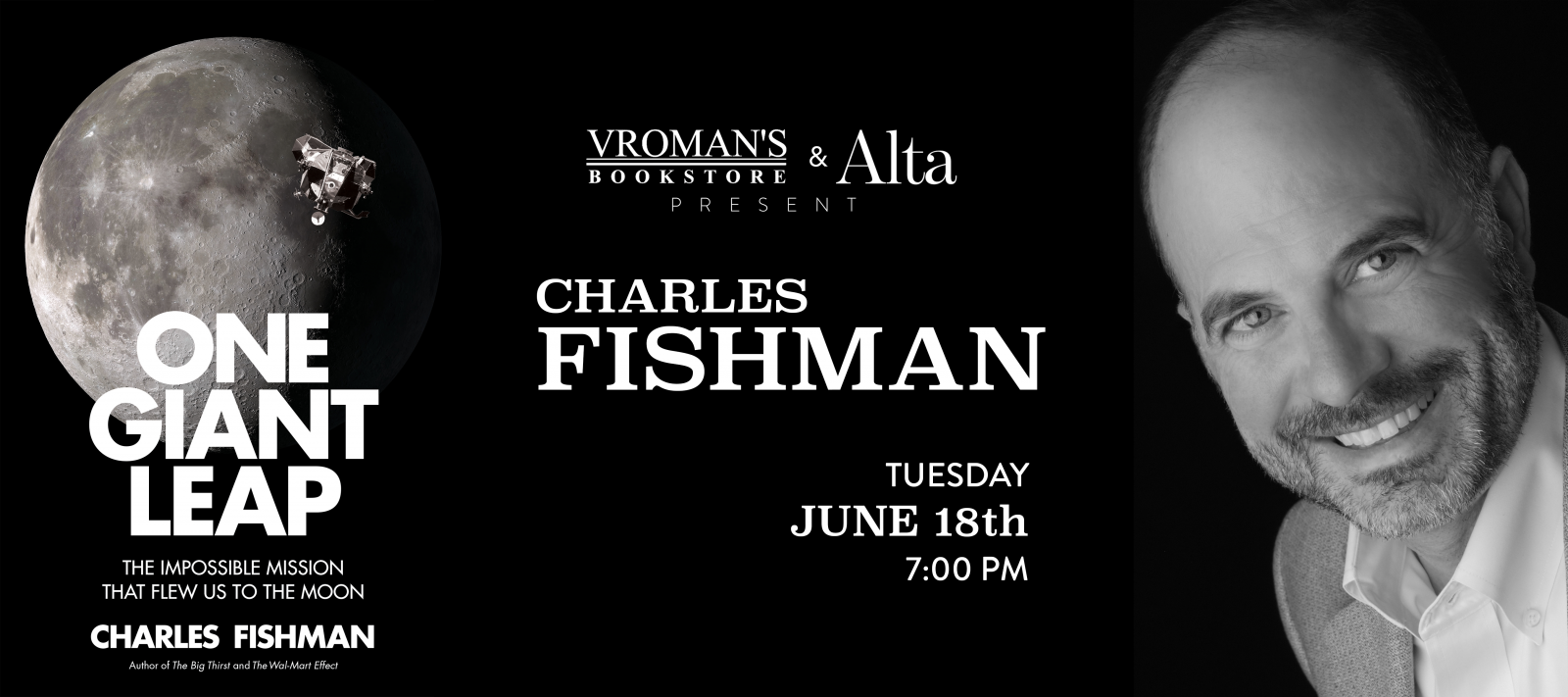 Charles Fishman book signing Tuesday June 18th at 7pm