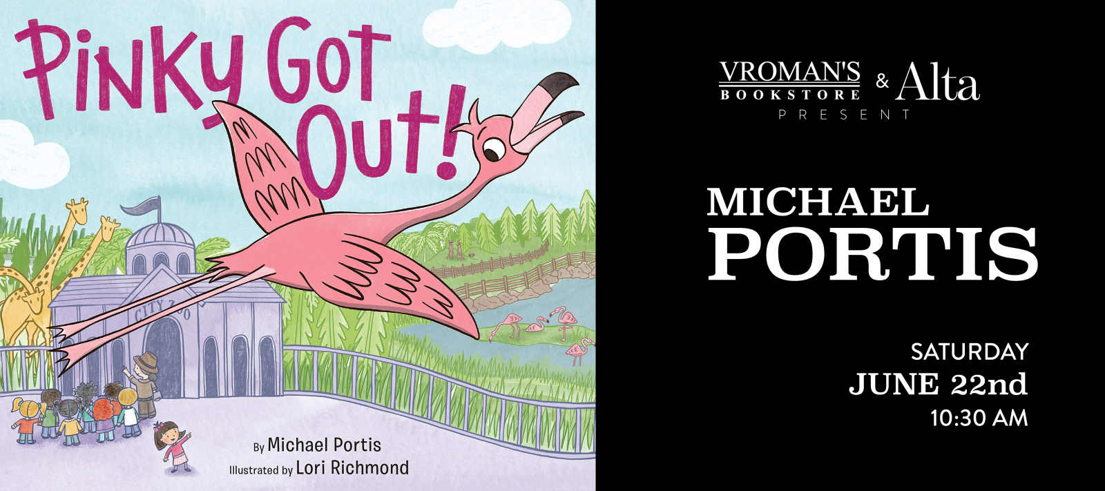 Michael Portis book signing Saturday June 22nd at 10:30am
