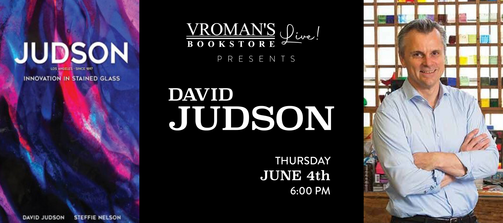 Vroman's Live presents David Judson on Thursday June 4th at 6pm