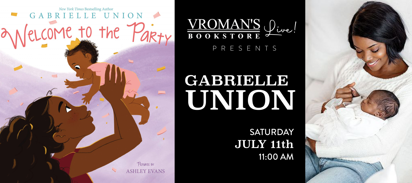 Vroman's Live presents Gabrielle Union on Saturday July 11 at 11am