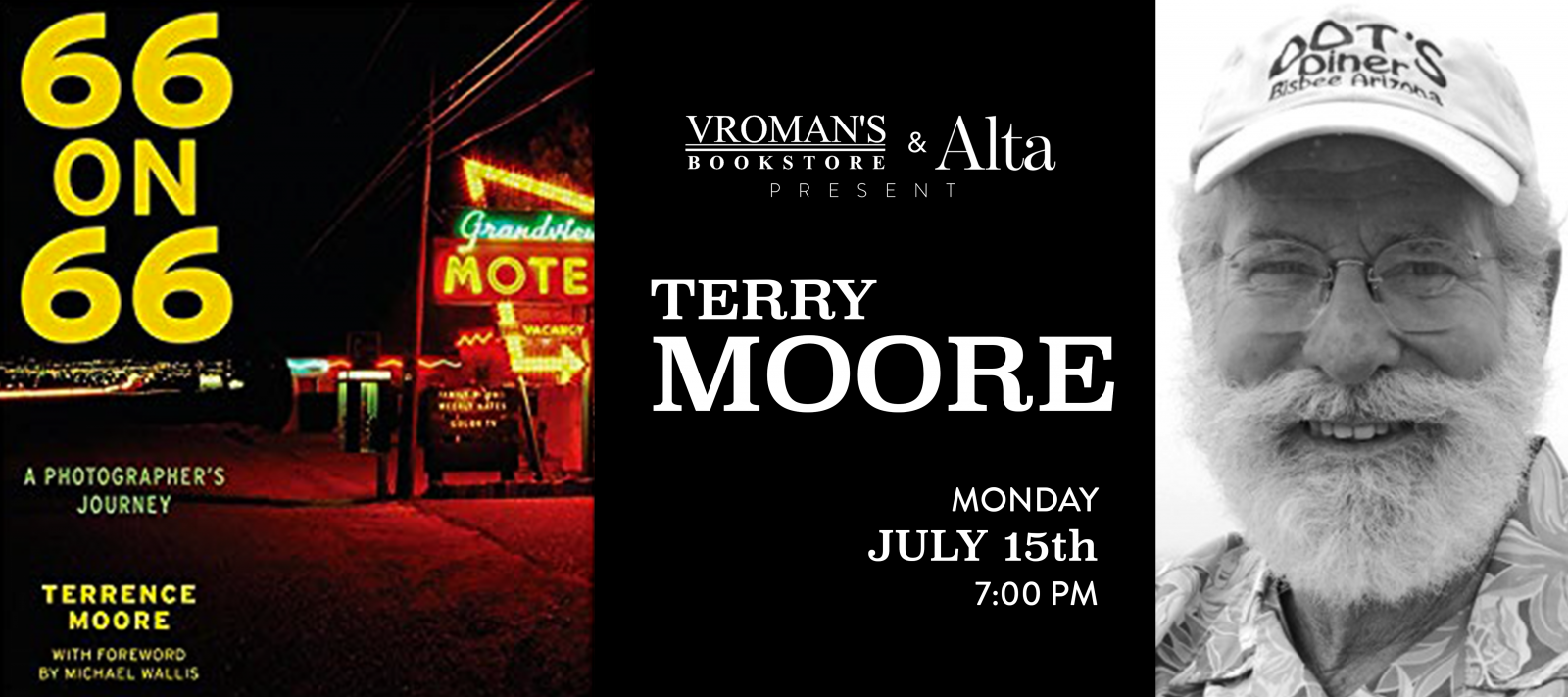 Terrence Moore book signing Monday July 15th at 7pm