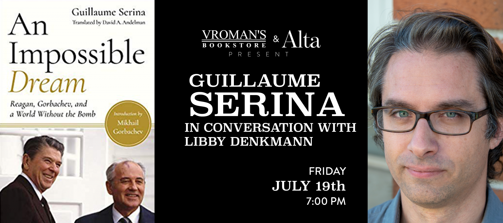 Guillaume Serina book signing Friday July 19th at 7pm