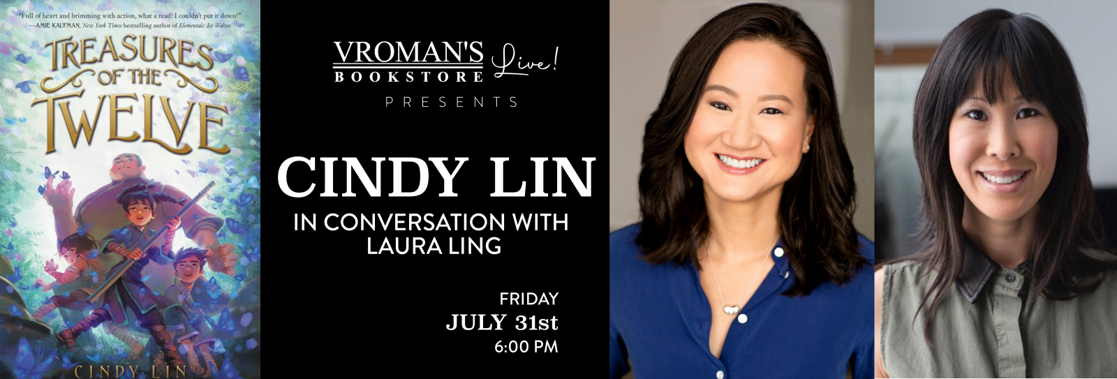 Vroman's Live presents Cindy Lin, in conversation with Laura Ling, on Friday July 31 at 6pm