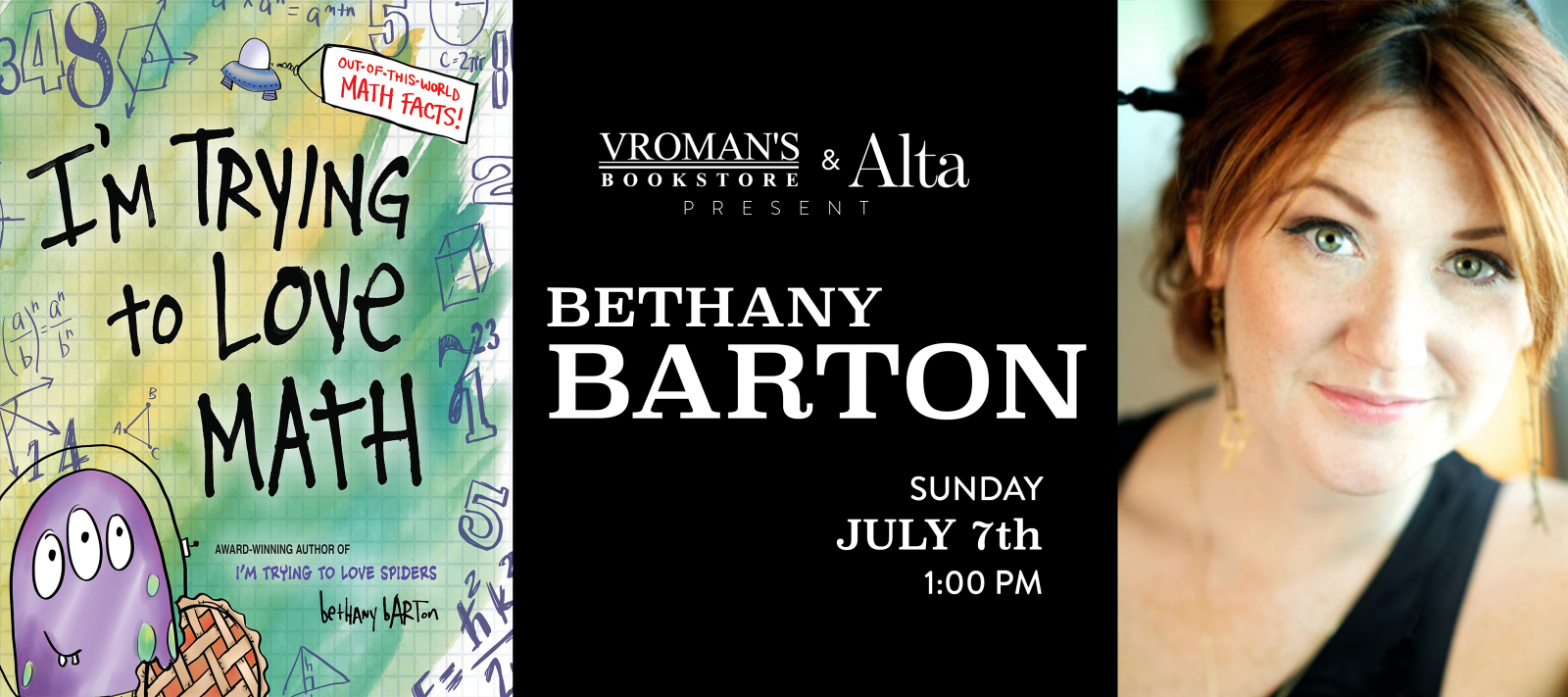 Bethany Barton Book Signing Sunday July 7th
