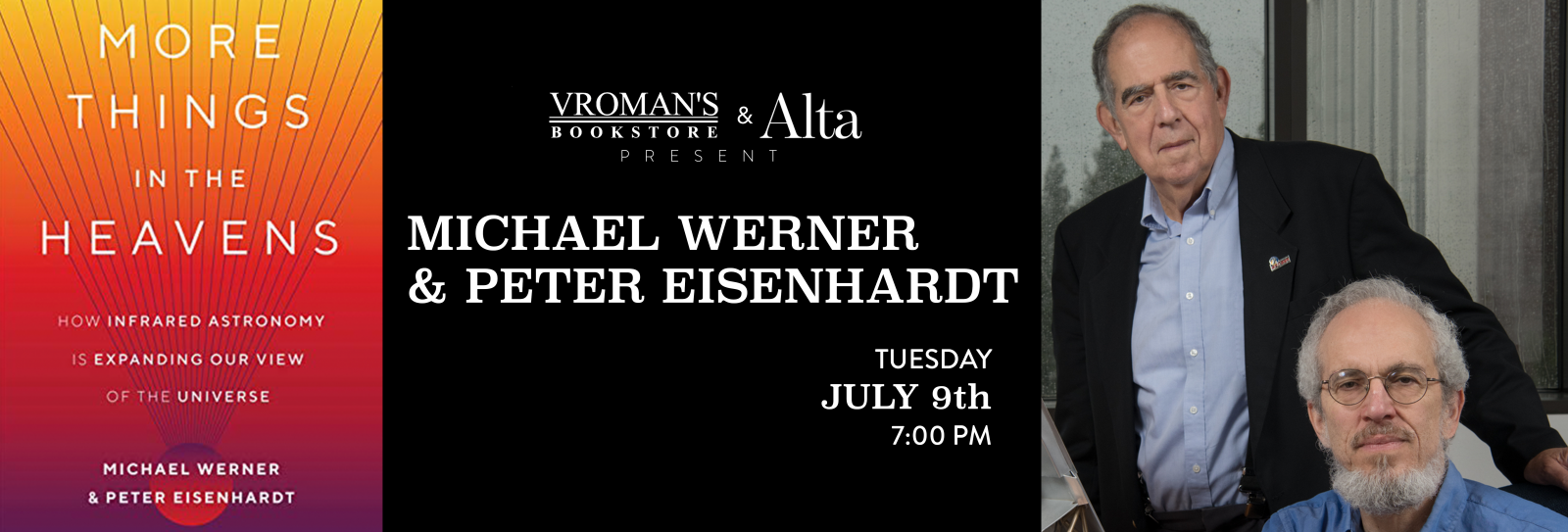Michael Werner & Peter Eisenhardt book signing Tuesday July 9th at 7pm