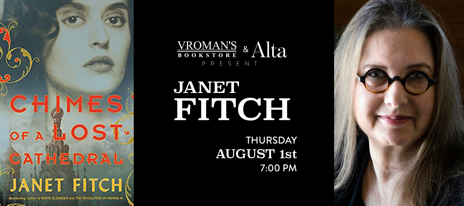 Janet Fitch book signing Thursday August 1st at 7pm
