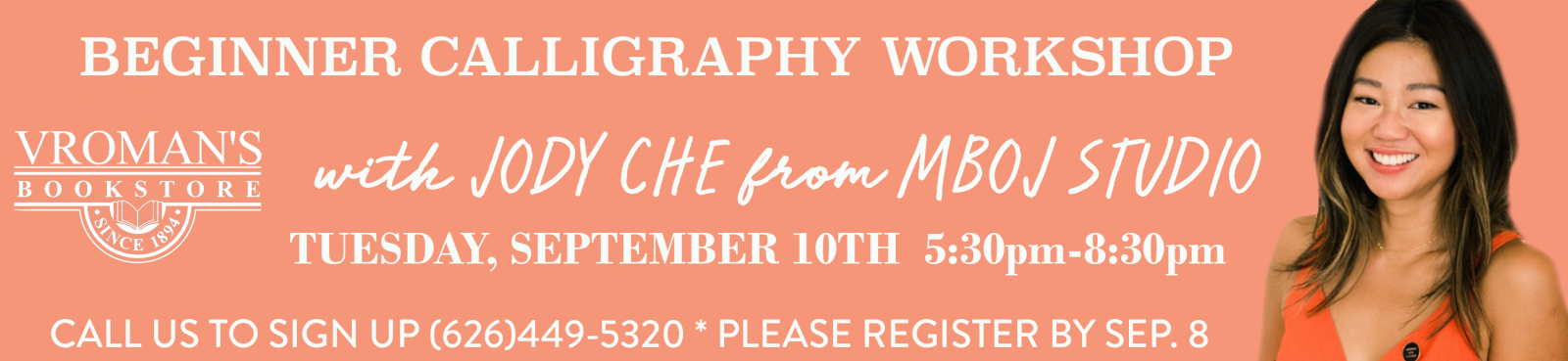 Beginner Calligraphy Class with Jody Che
