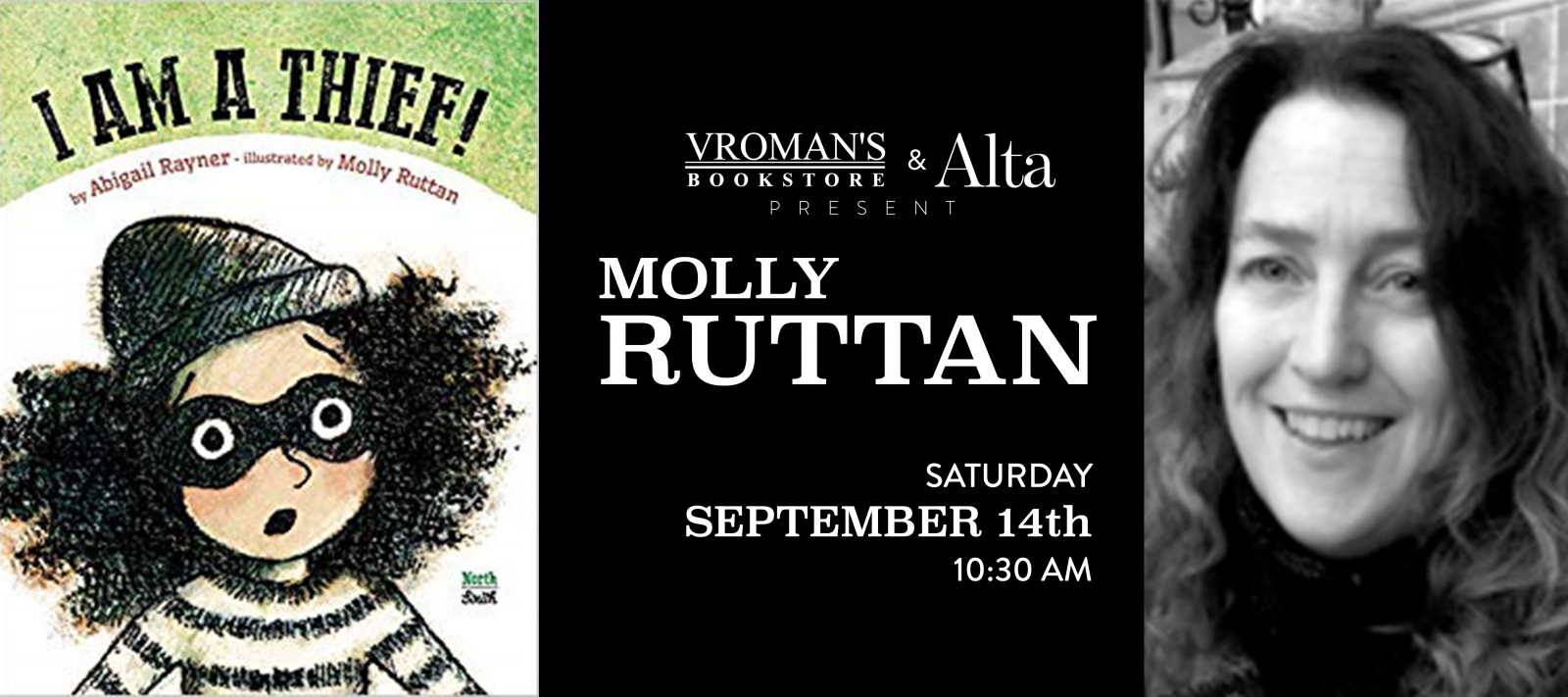 Molly Ruttan book signing Saturday September 14th at 10:30am