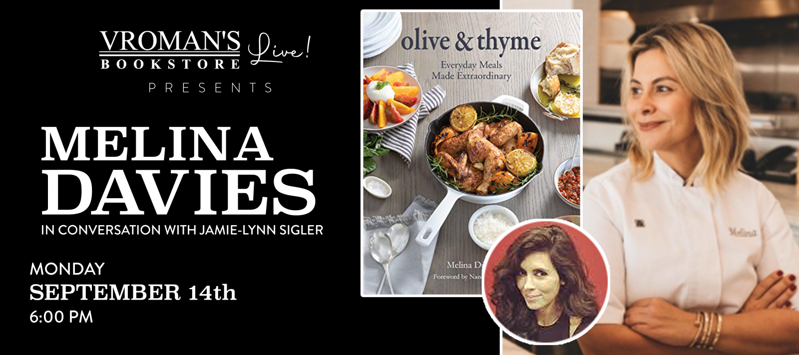 Vroman''s Live presents Melina Davies, in conversation with Jamie-Lynn Sigler, on Monday, September 14, at 6pm